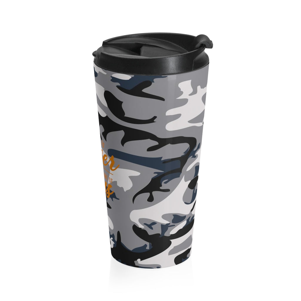 Christian Travel Mug 15 oz (There Is Power In The Name Of Jesus)