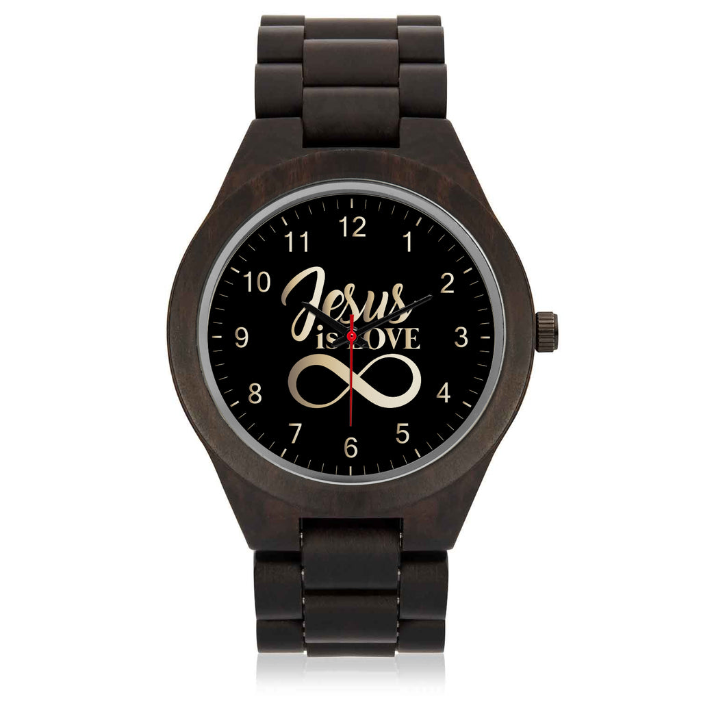 Wood Watch (Jesus Is Love) - Gift To Husband