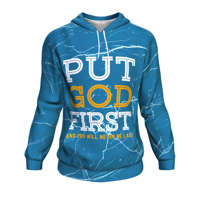 Christian AOP Unisex Hoodie, Put God First