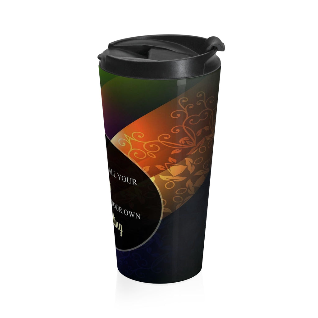 Christian Travel Mug 15  (Proverbs 3:5, Trust in the Lord with All your Heart)