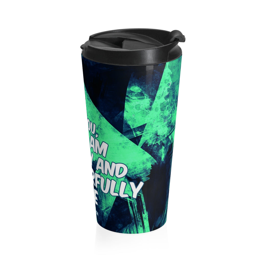 Christian Travel Mug 15 oz (Psalm 139:14, Praise You For I Am Fearfully and Wonderfully Made)