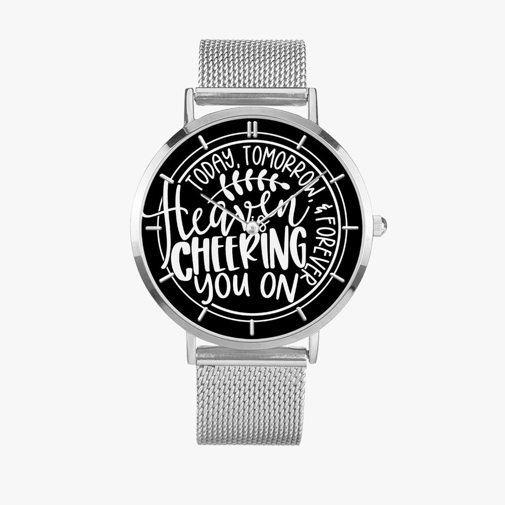HeavenIsCheering Fashion Ultra-thin Stainless Steel Quartz Watch - Christian Unisex Watch