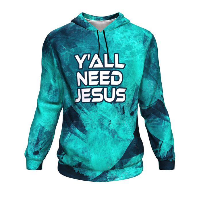 Christian AOP Hoodie, Y'All Need Jesus