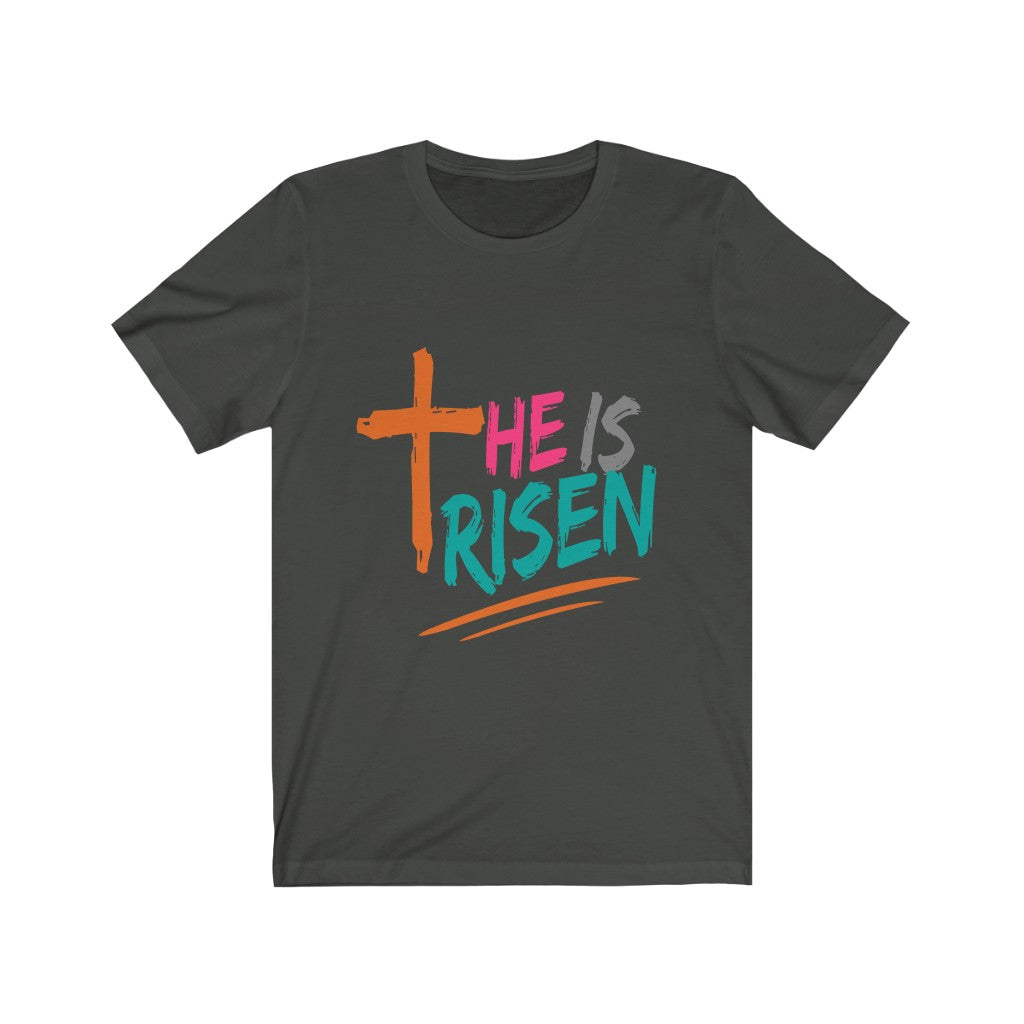 Christian Unisex Jersey Shirt (He Is Risen)