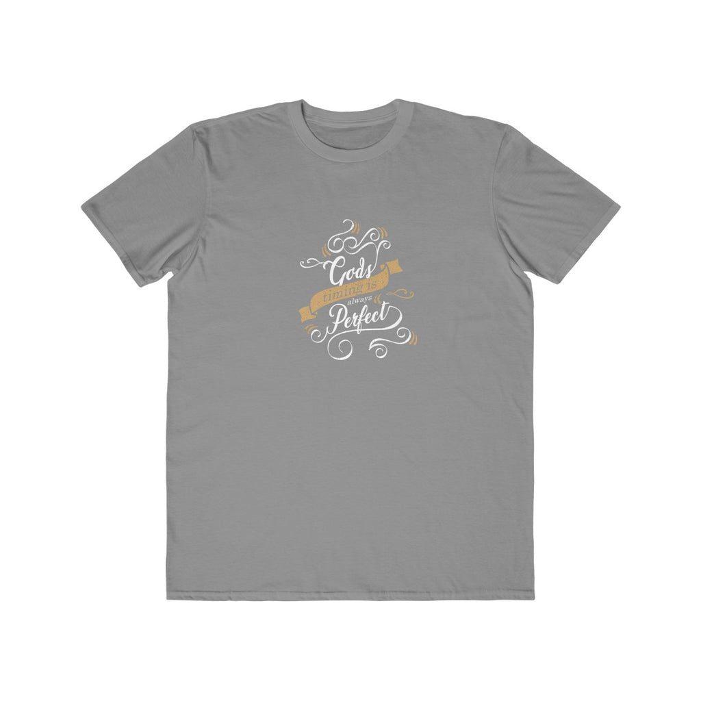 Christian Men's Tee (God's Timing is Always Perfect)