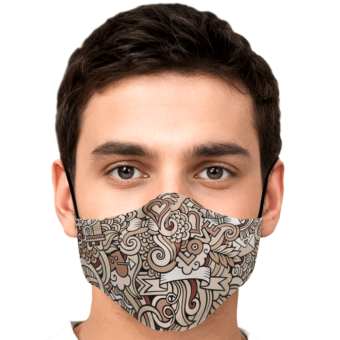 Fashion Face Mask (Love D2) - 5 Layers