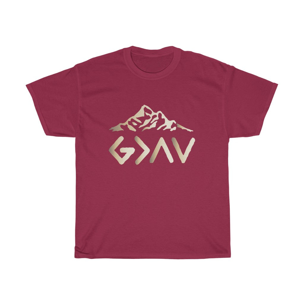 Christian Unisex Tee (God Is Greater Than The Highs and The Lows)