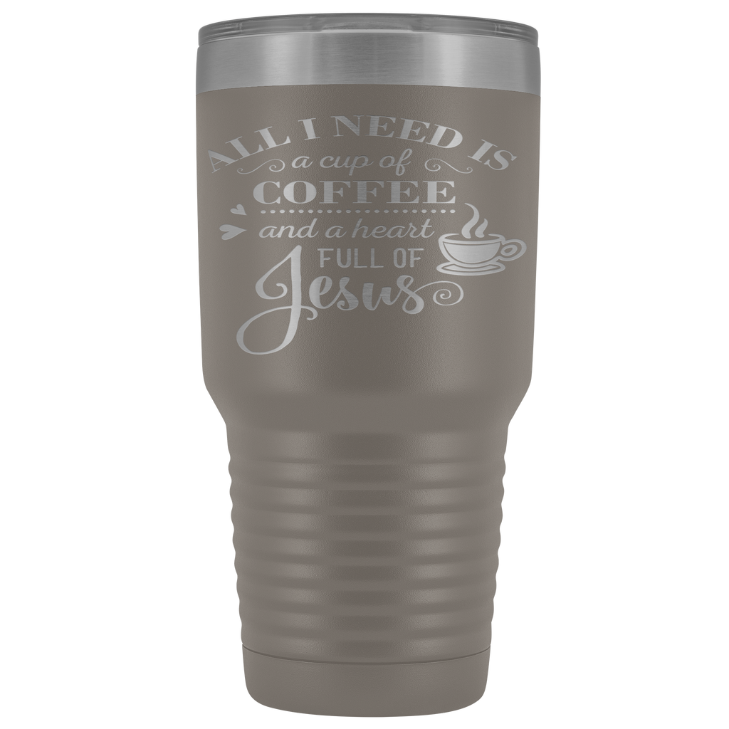 Christian Tumbler 30 Oz (Coffee and Jesus)