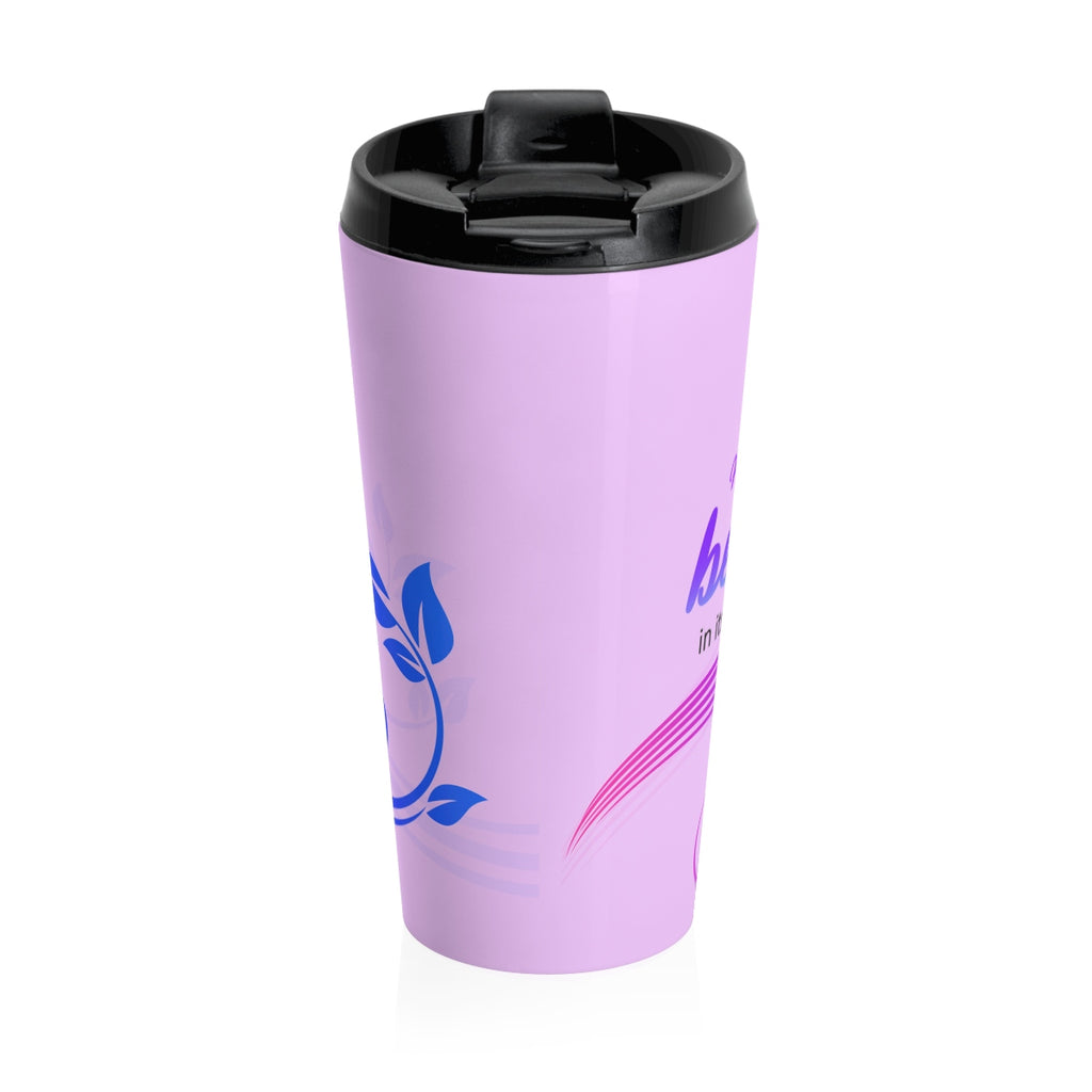 Christian Travel Mug 15 oz (Ecclesiastes 3:11, He Has Made Everything Beautiful In His Time)