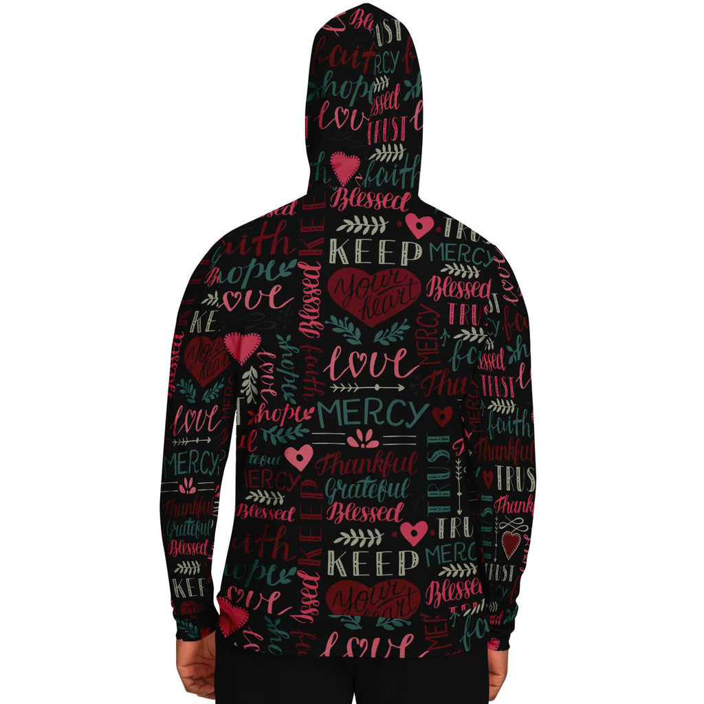Scripture Unisex Hoodie (Multi Verse 2) - All Over Print Pull-up Hoodie - Christian Hooded Sweatshirt