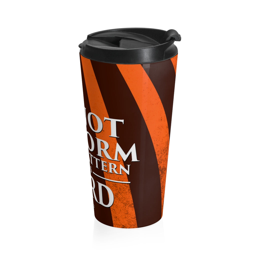 Christian Travel Mug 15 oz (Romans 12:2, Do Not Conform To The Pattern Of This World)