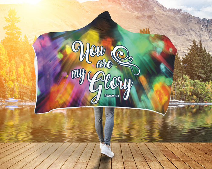 Christian Hooded Blanket - You Are My Glory (Psalm 5:5)