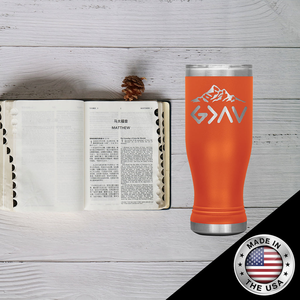 Christian Boho Tumbler 20 Oz (God Is Greater Than The Highs and The Lows)