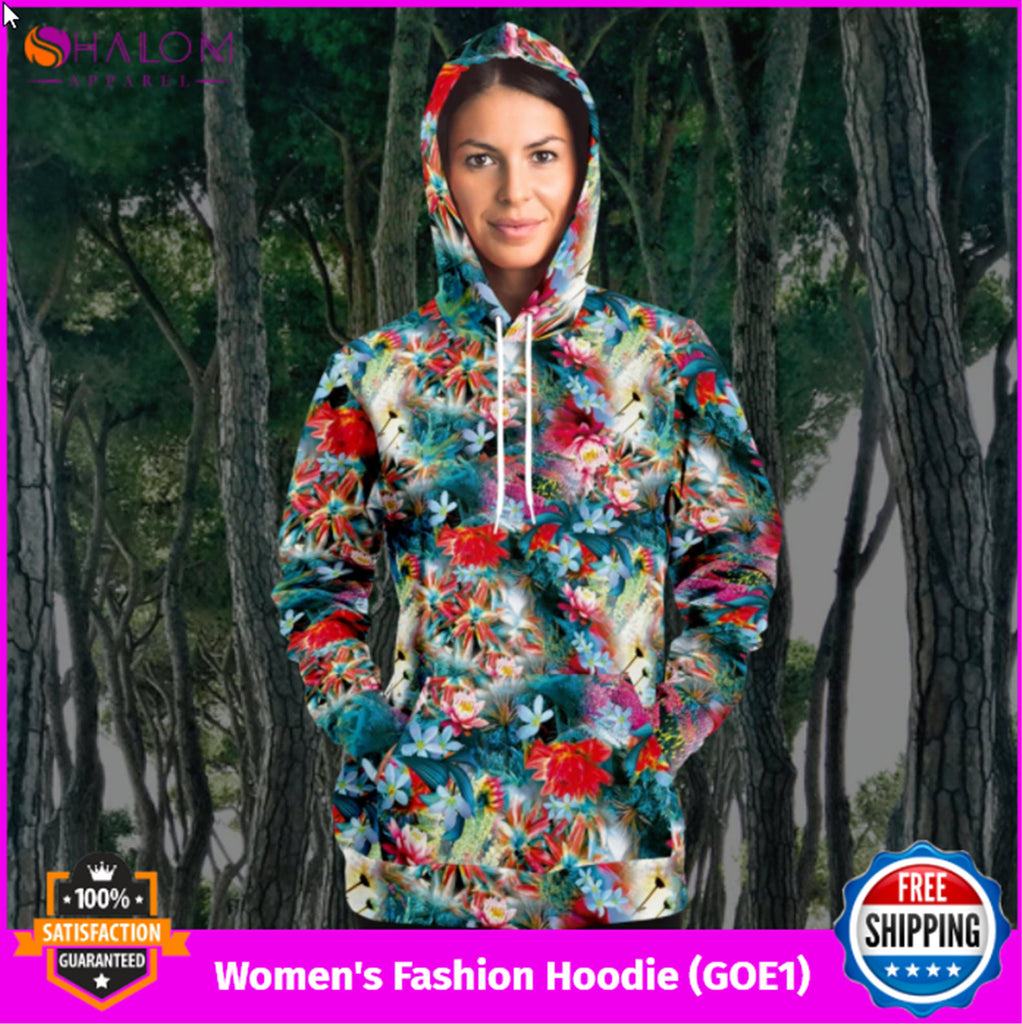 Women's Fashion Hoodie (Garden Of Eden 01)
