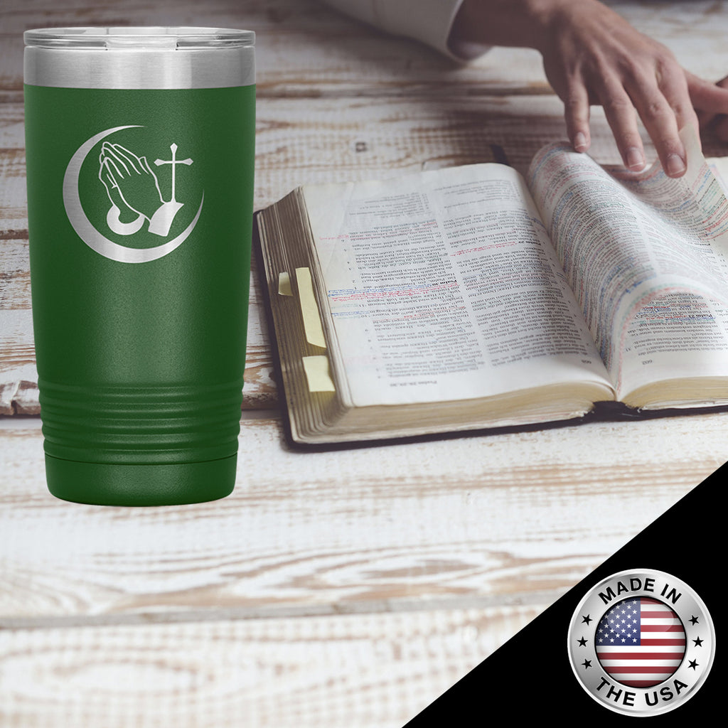 Christian Tumbler 20 Oz (Prayerful Hand)