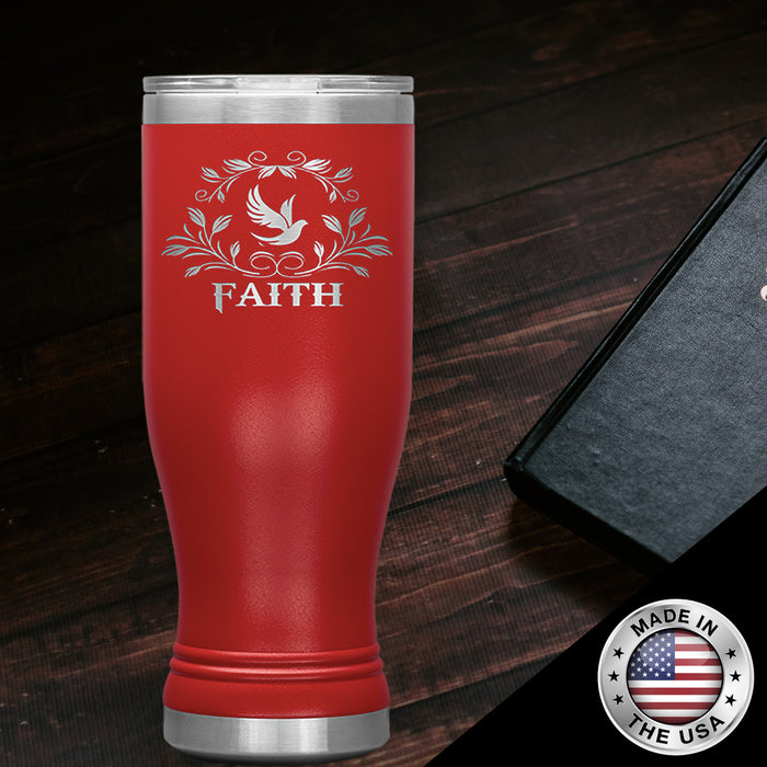Christian Boho Tumbler 20 Oz (Faith)