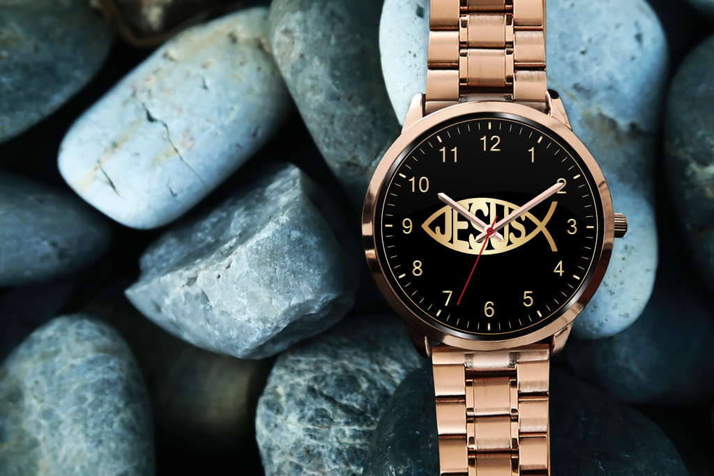Christian Rose Gold Watch, Jesus Fisher of Men