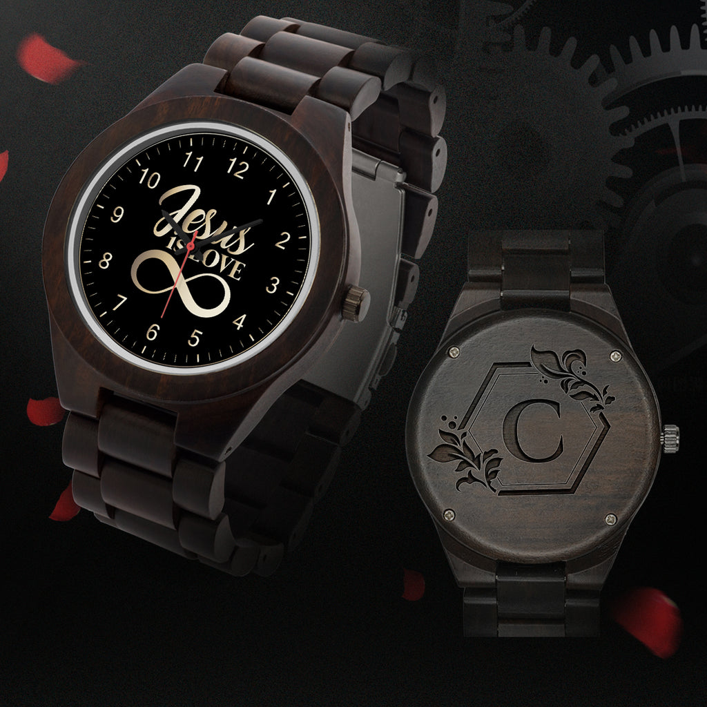 Wood Watch (Jesus Is Love) - Monogram