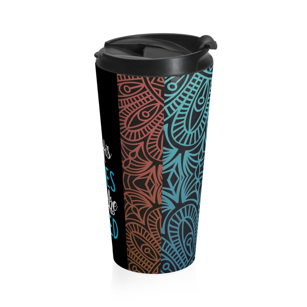 Christian Travel Mug 15 oz (Isaiah 53:5, By His Stripes We Are Healed)