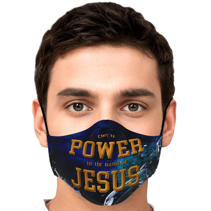 Fashion Face Mask (Power In The Name Of Jesus) - 5 Layers