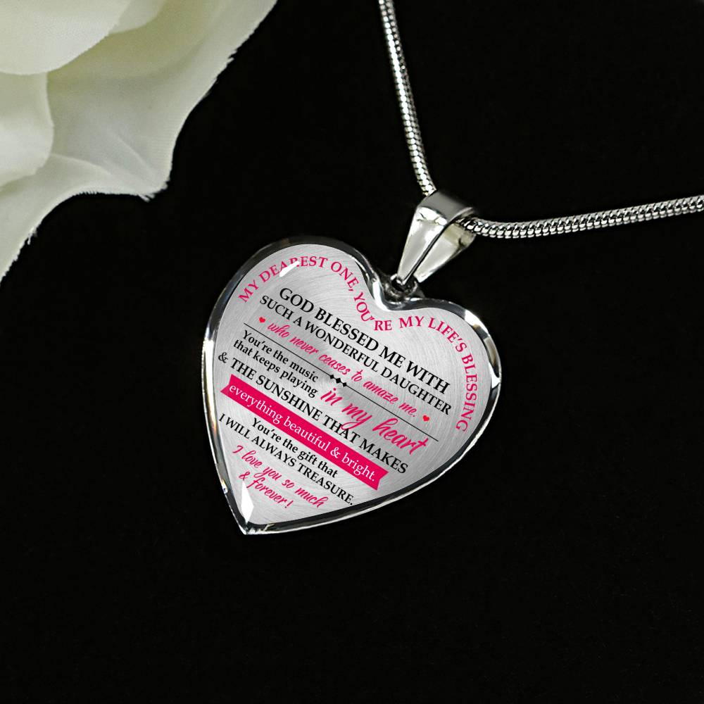 Heart Pendant Necklace (Mom Gift To Daughter Necklace)