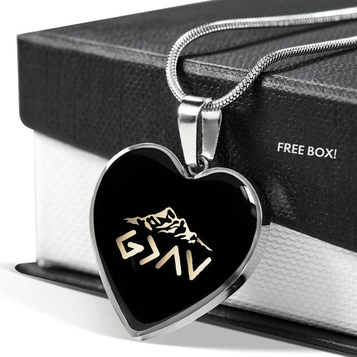 Christian Heart Pendant Necklace (God Is Greater Than The Highs and The Lows)