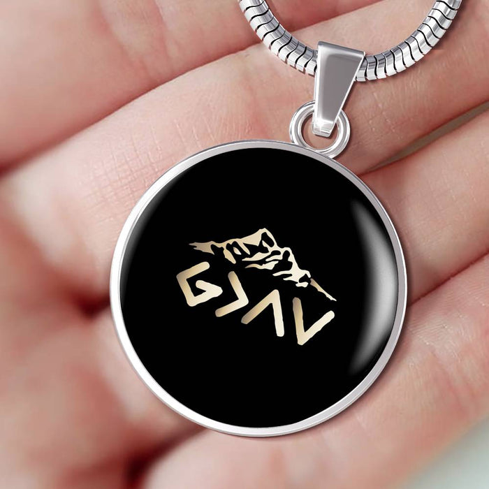 Christian Circle Pendant Necklace (God Is Greater Than The Highs and The Lows)