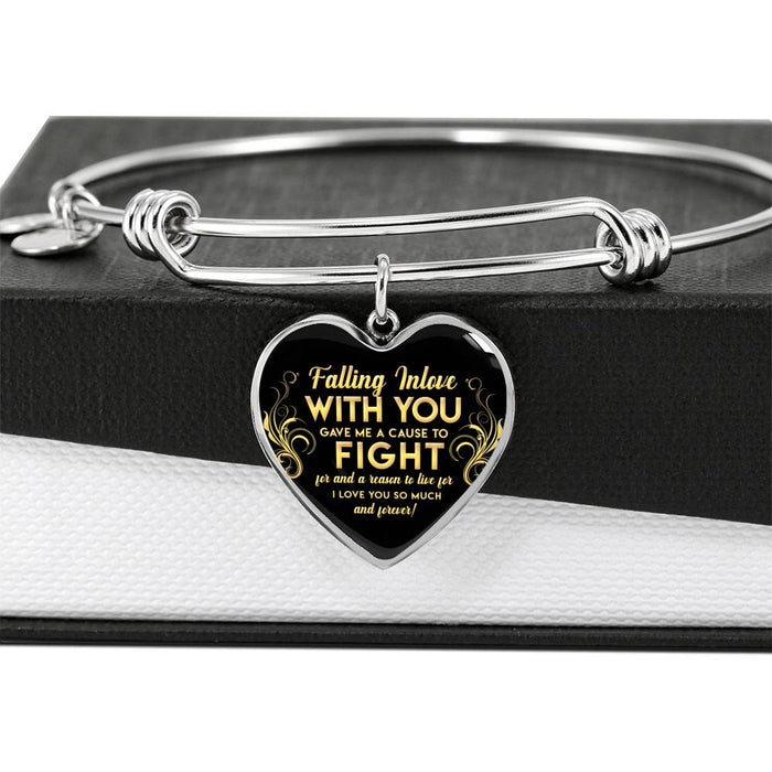 Falling In Love Heart Bangle