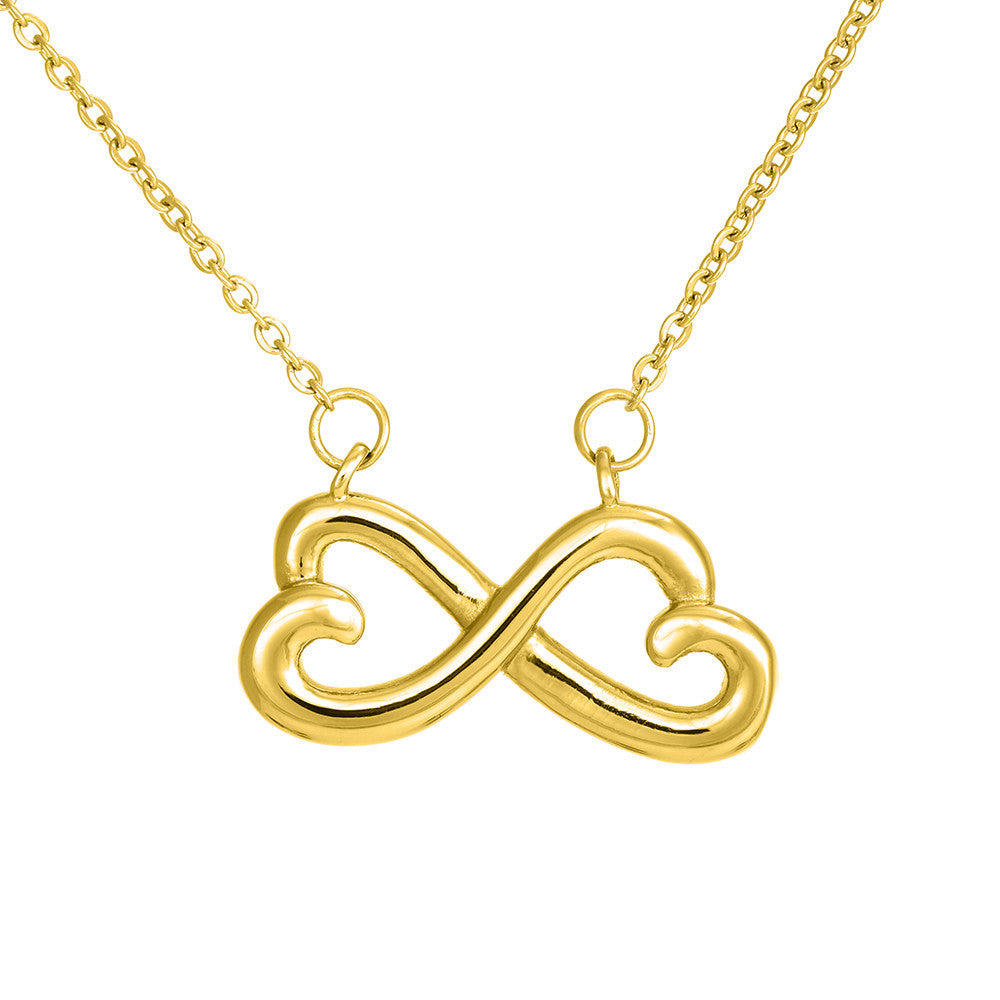 Infinity Heart Necklace - Dad's Gift To Daughter (Never Forget)