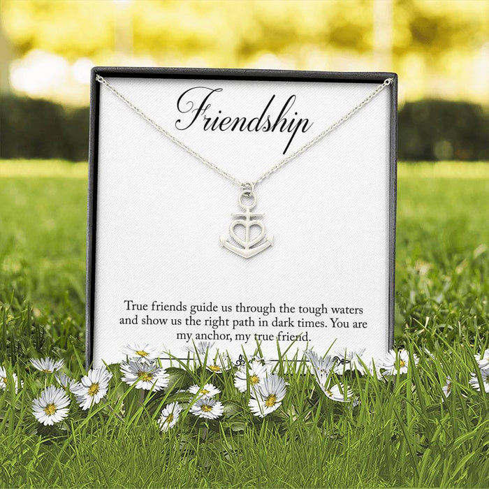 Friendship Anchor Necklace - Perfect Gift for Friends & Best Friends
