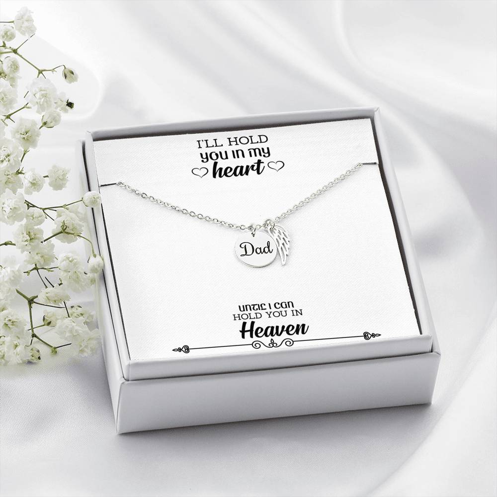 Dad Remembrance Necklace - Loss of Dad Gift - Dad Memorial Gift - Keepsake Condolence, Sympathy Gift