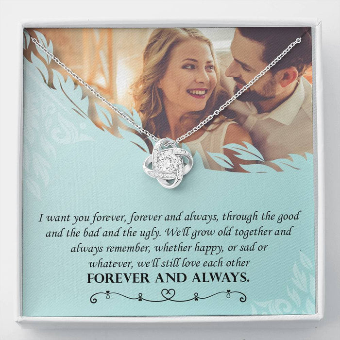 Love Knot Necklace (Wife Necklace) - I Want You Forever