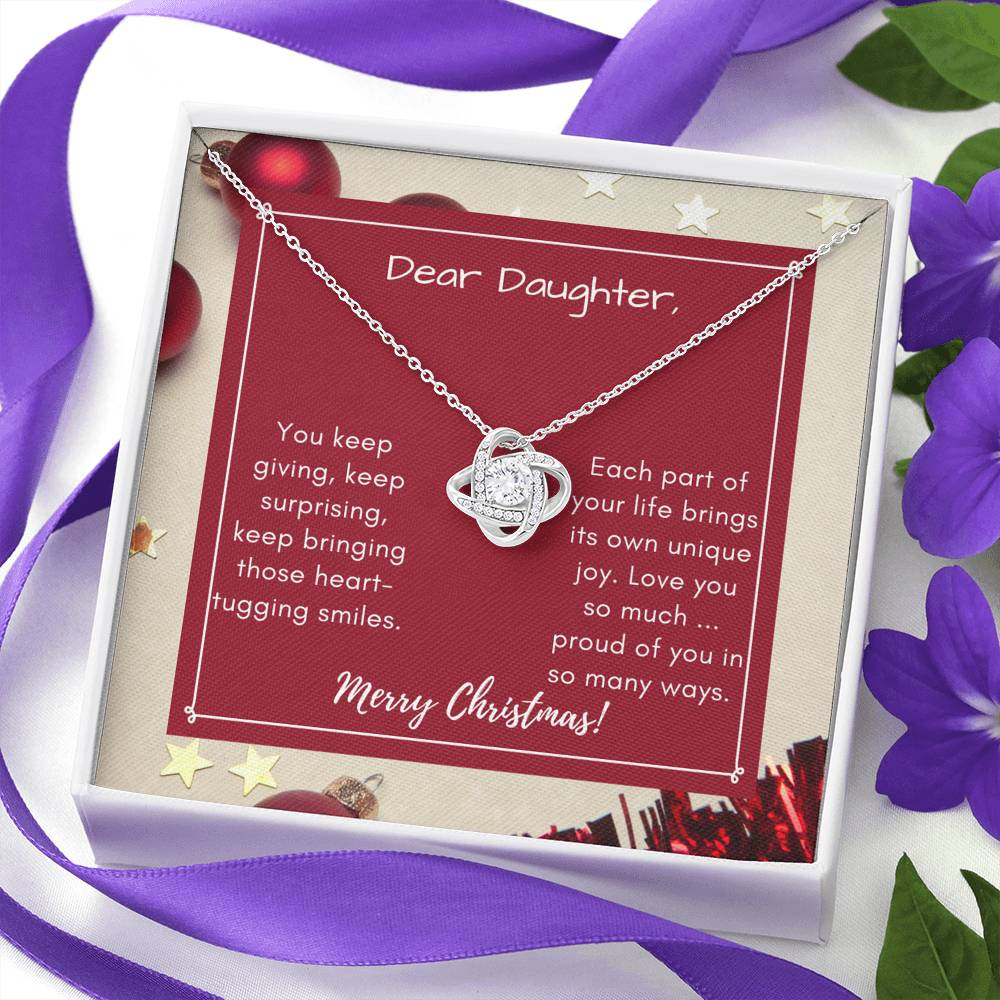Love Knot Necklace (Proud of you in so many ways) - Daughter's Necklace