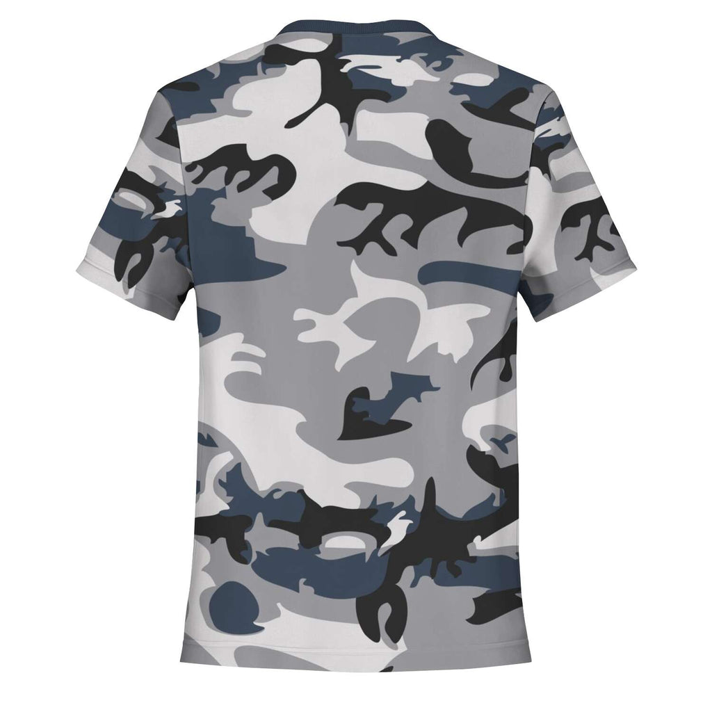 Women's Camouflage AOP Tee (There Is Power In The Name Of Jesus)