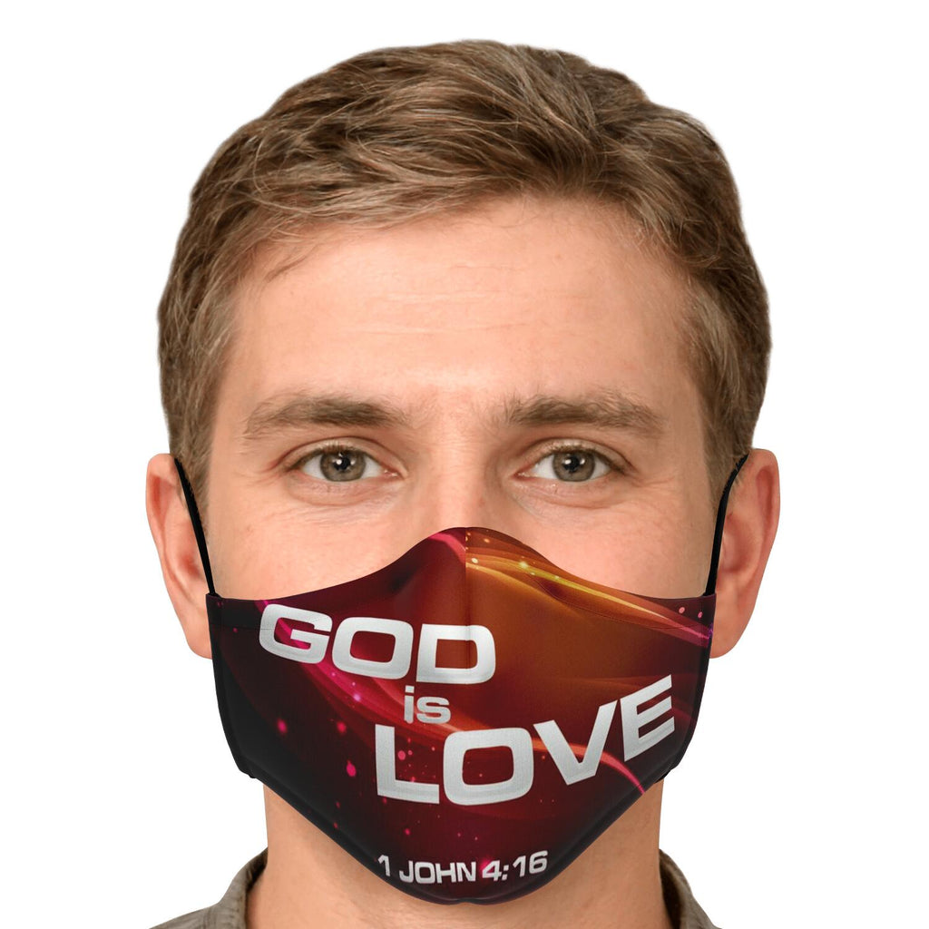 Fashion Face Mask (God Is Love) - 5 Layers