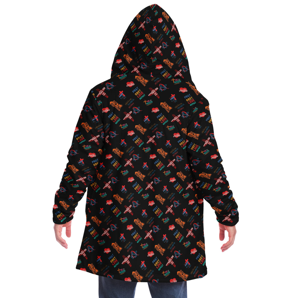 Microfleece Cloak (Christian Pattern Multi-Scripture)