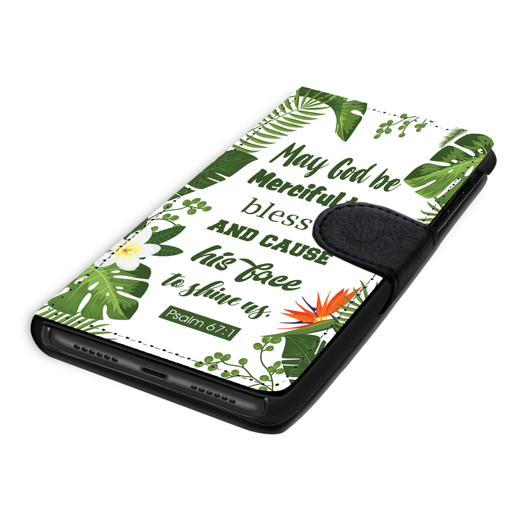 Wallet Phone Case (Samsung & Iphone) - May God Be Merciful To Us (Psalm 67:1)