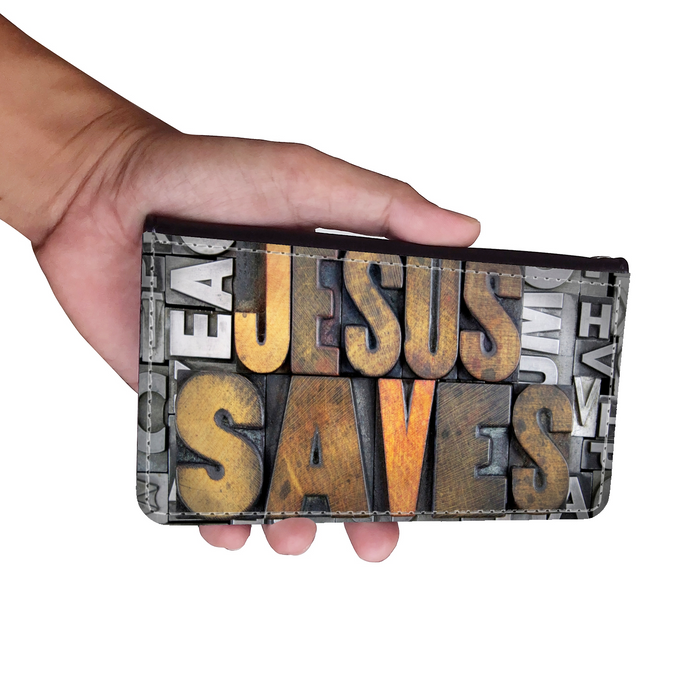 Jesus Saves Wallet Phone Case - Samsung Phone Case -Iphone Phone Case - Christian Wallet Phone Case - Gift for Christians