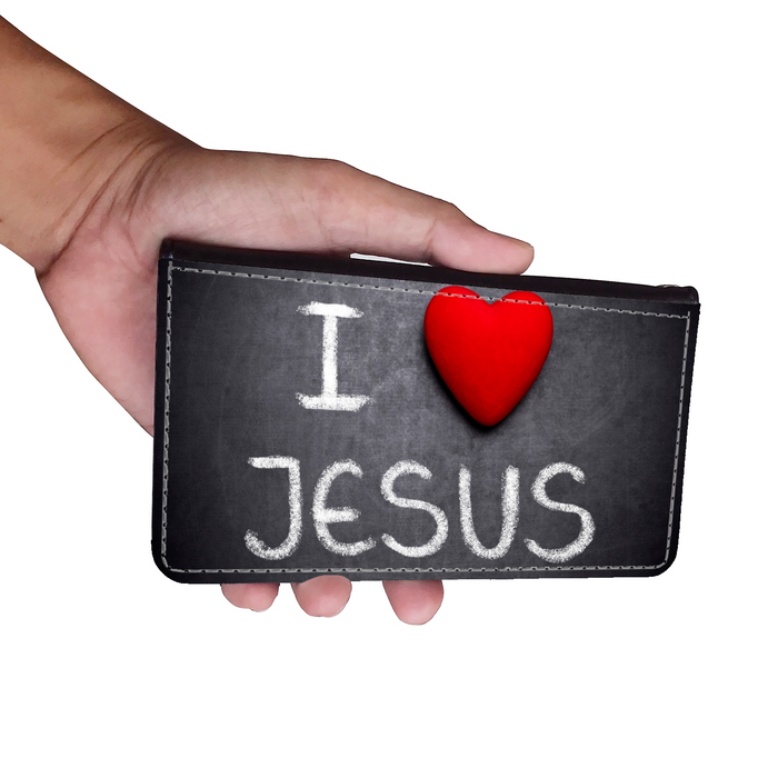 I Love Jesus Wallet Phone Case - Samsung Phone Case - Iphone Phone Case - Gift for Christians