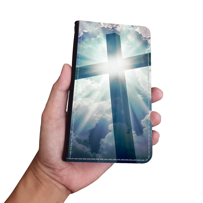 Cross Wallet Phone Case - Christian Phone Case - Samsung Phone Case - Iphone Phone Case - Gift for Christians
