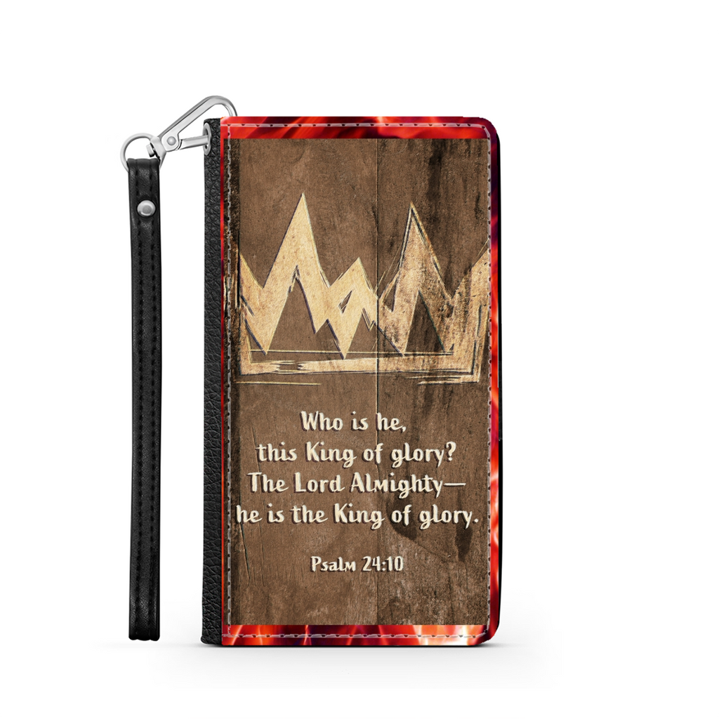 King Of Glory Wallet Phone Case - Christian Phone Case - Samsung Phone Case - Iphone Phone Case - Gift for Christians