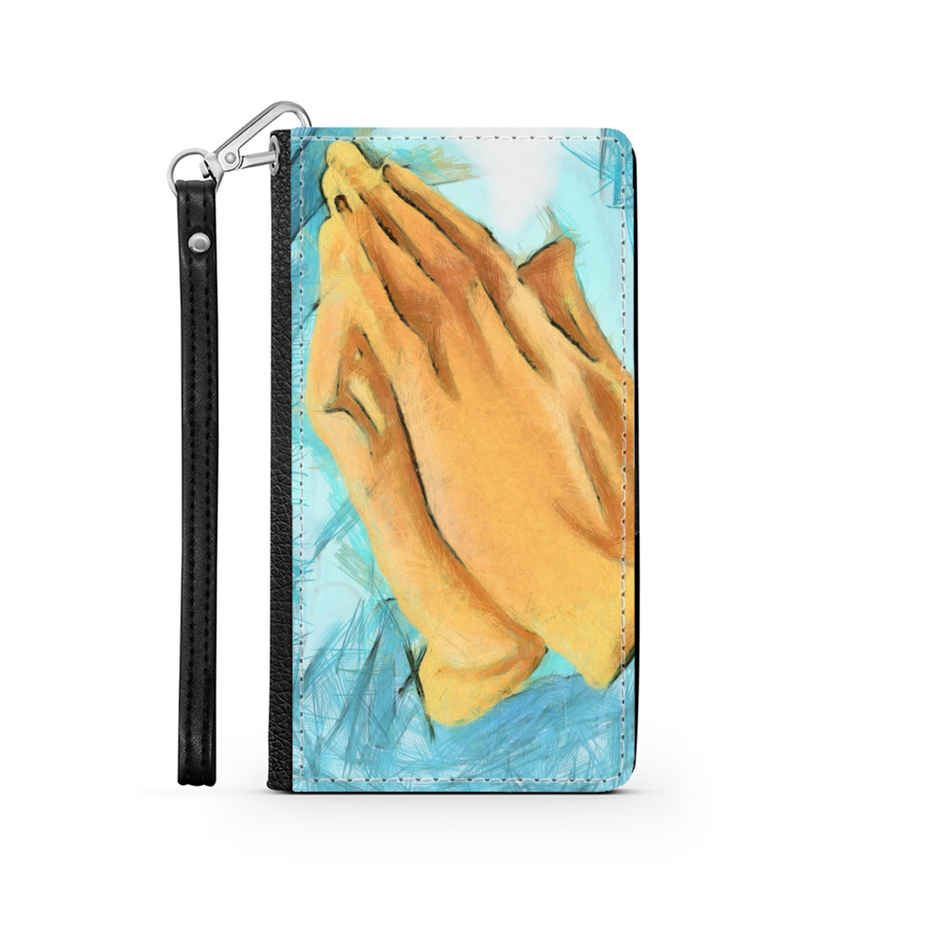 Prayerful Hand Wallet Phone Case - Christian Phone Case - Samsung Phone Case - Iphone Phone Case - Gift for Christians