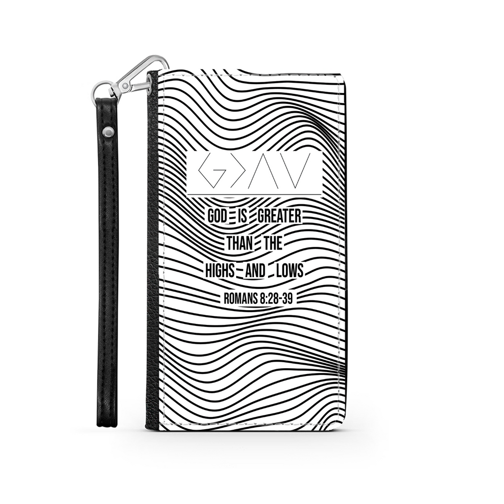 Wallet Phone Case (Samsung & Iphone) - God Is Greater Than The Highs & Lows (Romans 8:28-39)