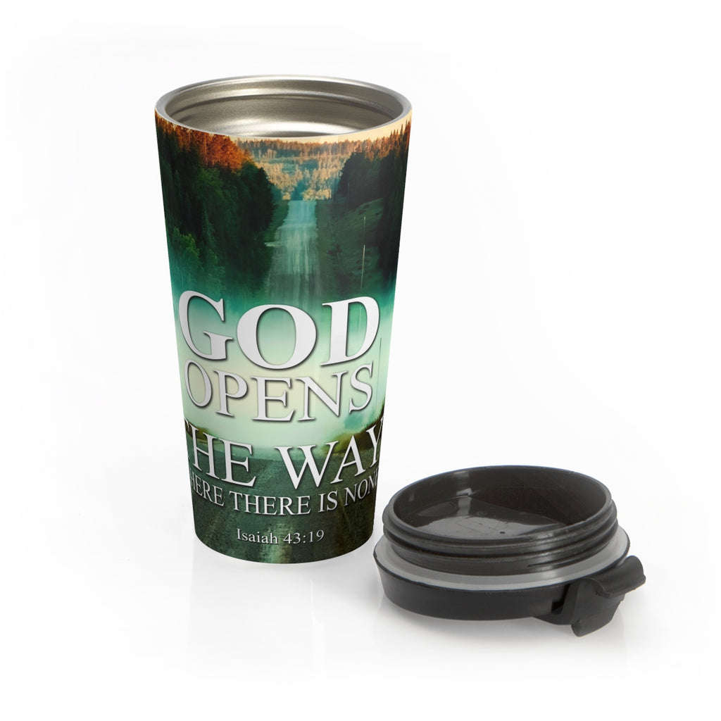 Christian Coffee Mug 15 oz  (Isaiah 43:19, God Opens The Way When There Is None)