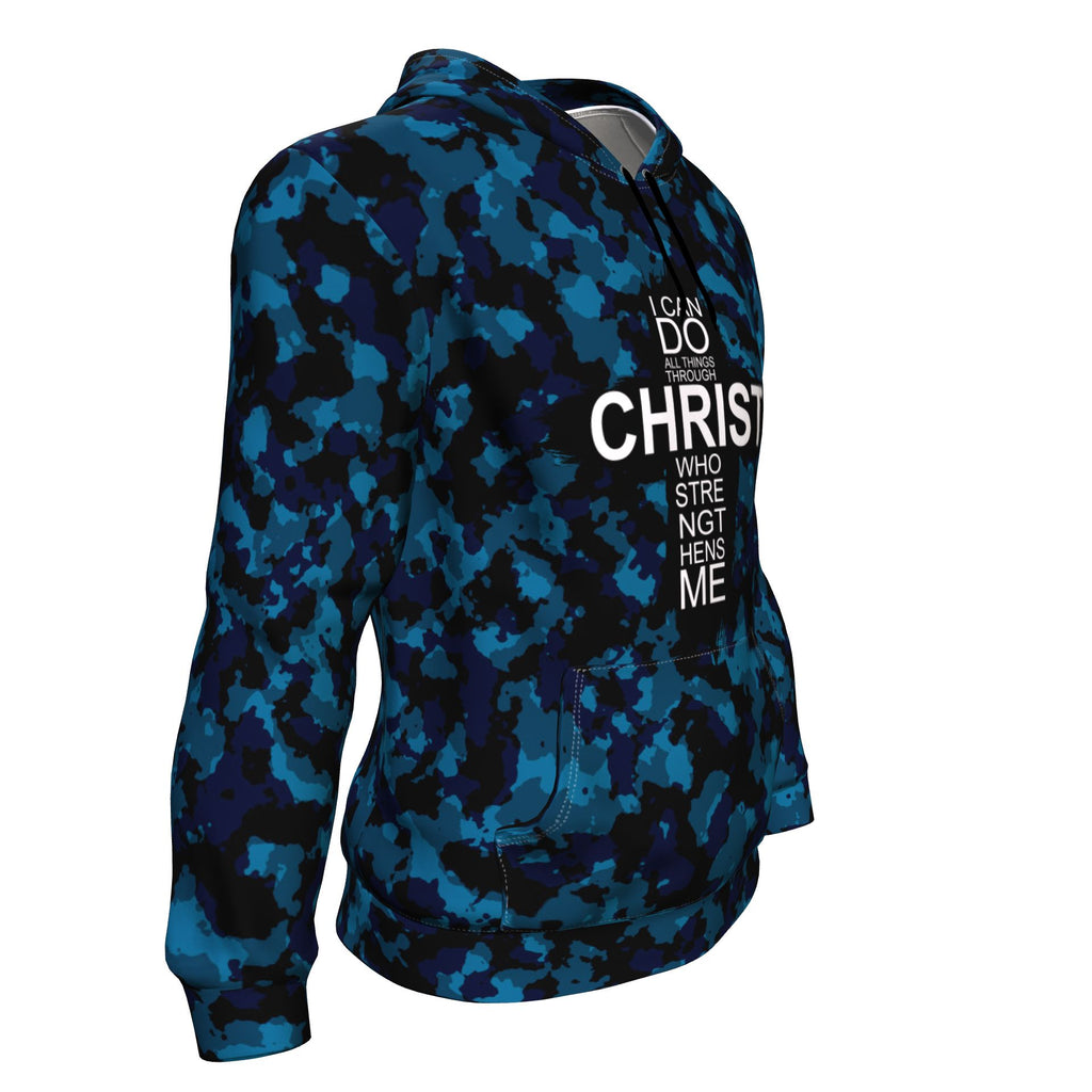 Christian AOP Hoodie, I Can Do All Things Through Christs (Philippians 4:13)