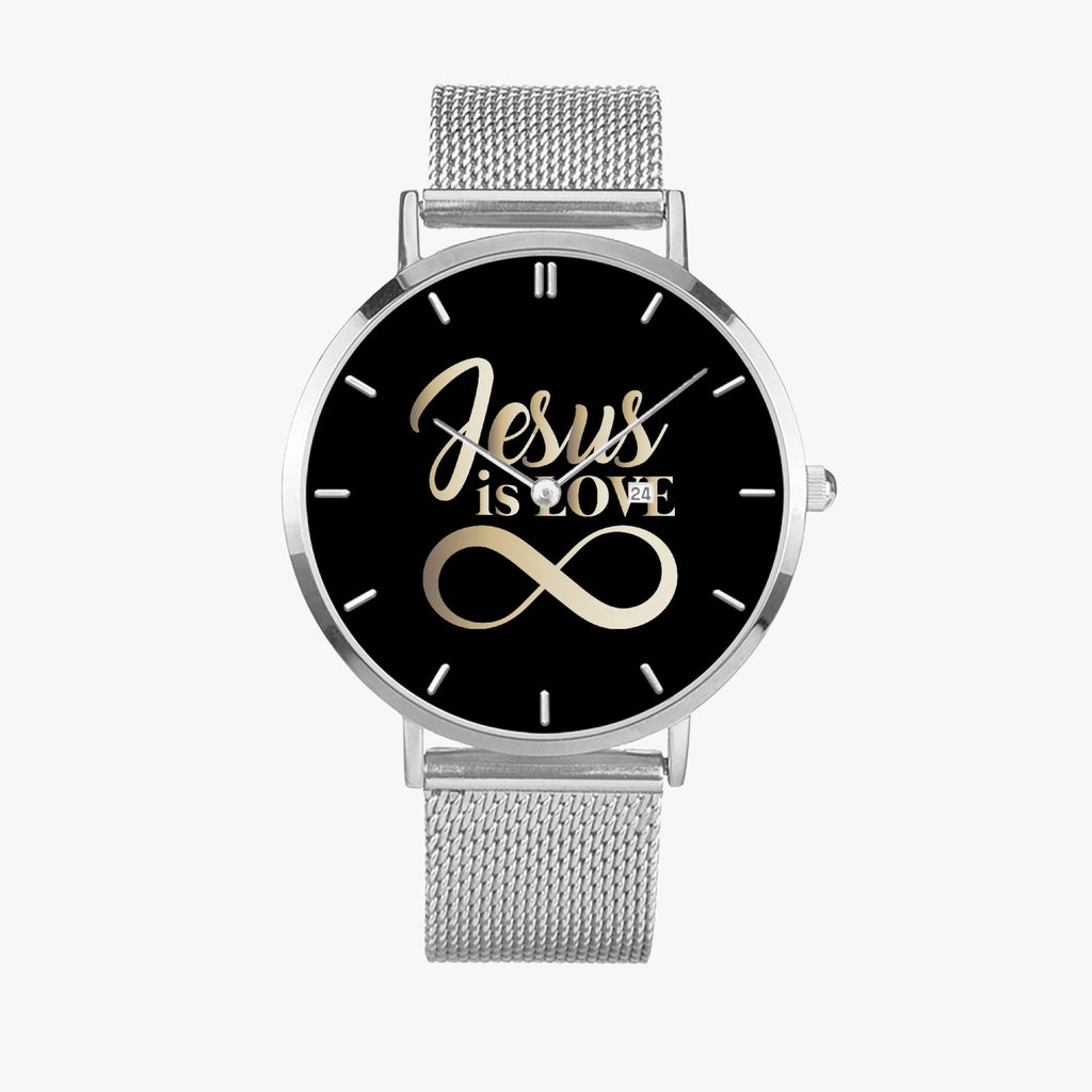 Scripture Unisex Wristwatches (Multi Color & Sizes) - Jesus Is Love Watches - Christian Wristwatches - Gift for Christians