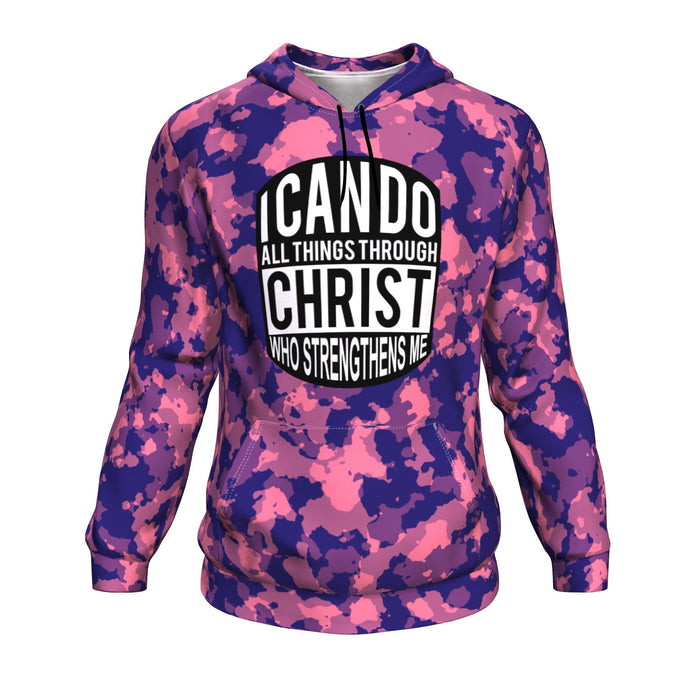 Christian AOP Hoodie, I Can Do All Things Through Christ (Philippians 4:13)