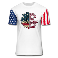 Patriotic Shirt - Home of the Free American Stars & Stripes Unisex Tees