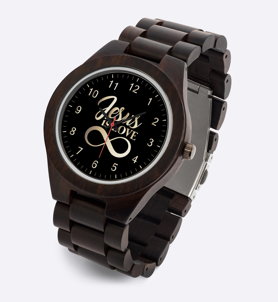 Wood Watch (Jesus Is Love) - Gift for Sons