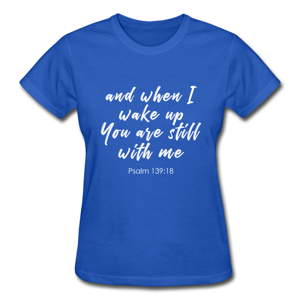 Psalm 139:18 Women Tees - royal blue